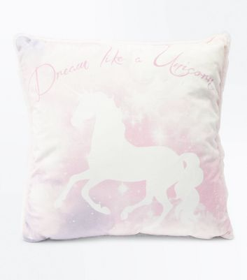 Pink Dream Like A Unicorn Cushion New Look