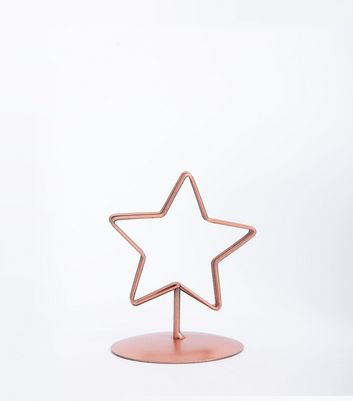 Shell Pink Metallic Star Photo Holder New Look