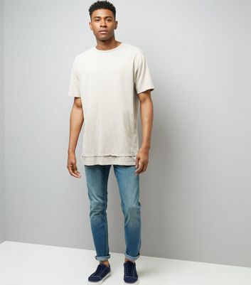 Stone Double Layered Acid Wash T-Shirt New Look