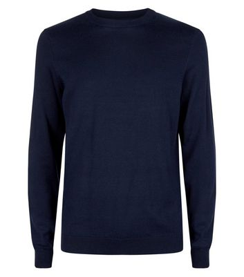 Navy Cotton Crew Neck Jumper New Look