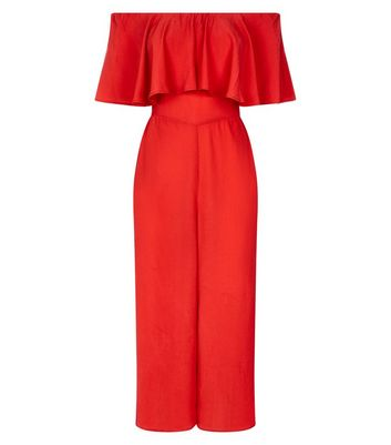 Red Bardot Neck Maxi Playsuit New Look