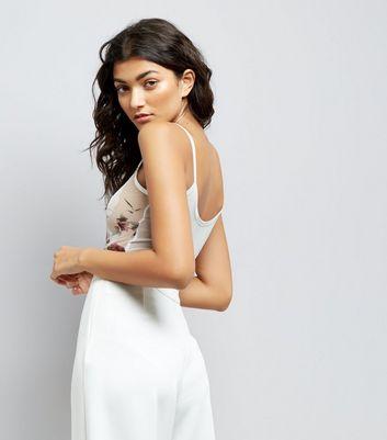 Cream Digital Floral Print Bodysuit New Look