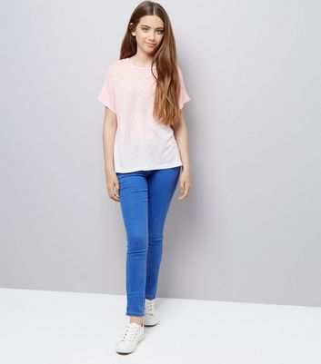 Teens Coral Ombre T-Shirt New Look