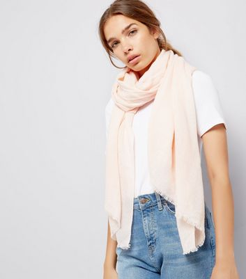 Pink Plain Scarf New Look