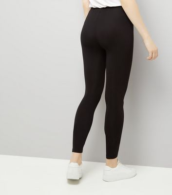 2 Pack Black and Grey Leggings New Look
