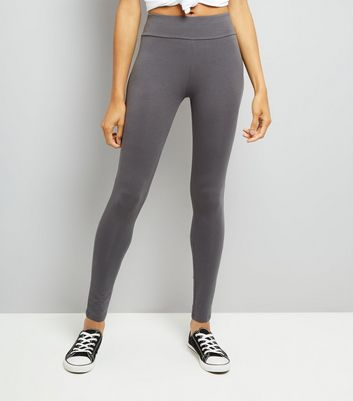 Grey High Waisted Leggings New Look