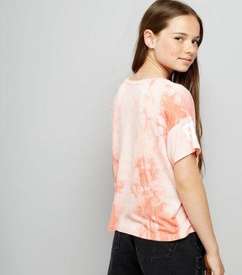 Teens Pink Tie Dye NY Print T-Shirt New Look