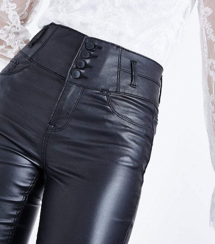 bab621574ebe Home · Black Coated High Waist Skinny Yazmin Jeans. ×. ×. ×. Shop the look