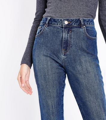 Blue Bootcut Jeans New Look