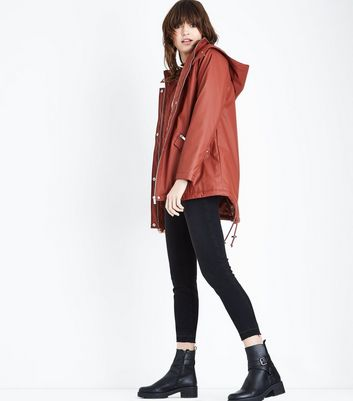 Rust Quilt Lined Anorak New Look