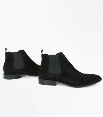 Black Suedette Chelsea Boots New Look