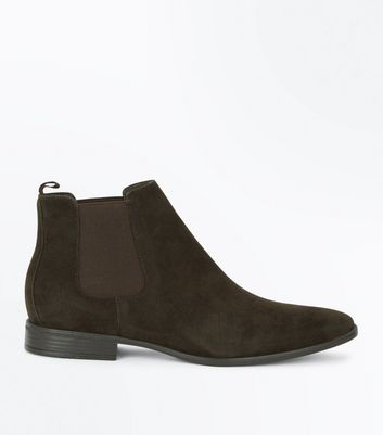 Brown Suedette Chelsea Boots New Look
