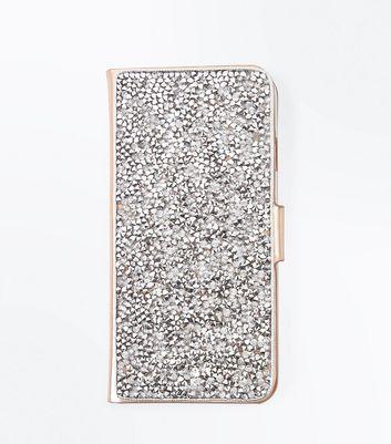 Rose Gold Metallic iPhone 6/7 Purse Case New Look