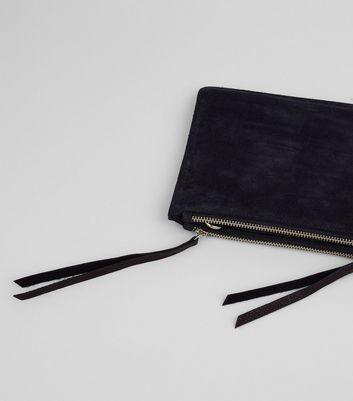 Black Suede Cross Body Bag New Look