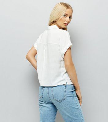 White Short Sleeve Shirt New Look