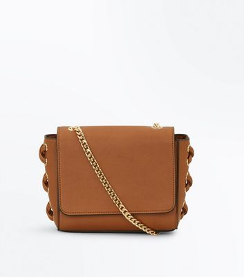 Tan Lace Up Side Cross Body Bag New Look