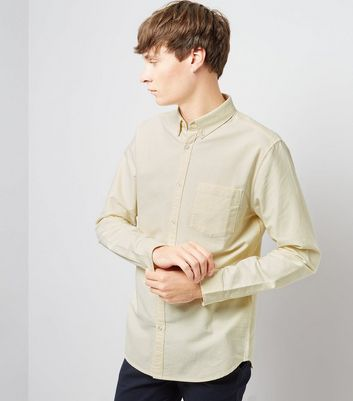 Pale Yellow Oxford Long Sleeve Shirt