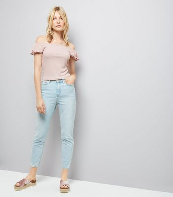 Pink Bardot Neck T-Shirt New Look