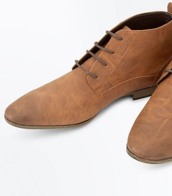 Tan Lace Up Desert Boots New Look