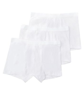 3 Pack White Trunks New Look