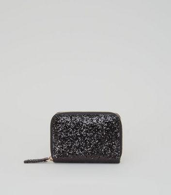 Black Glitter Cardholder New Look