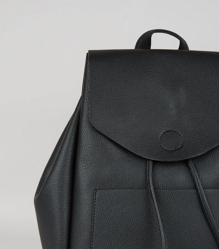 fbe860371 Black Drawstring Backpack | New Look