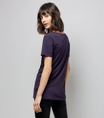 Tall Navy Scoop Neck T-Shirt New Look