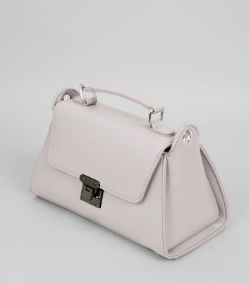 Lilac Mini Top Handle Bag New Look