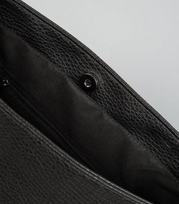 Black Textured Oversized Shoulder Bag New Look