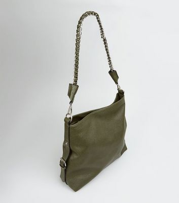 Khaki Textured Oversized Shoulder Bag New Look