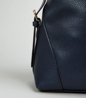 Navy Textured Oversized Shoulder Bag New Look