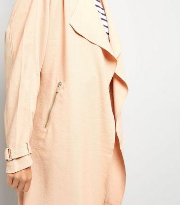 Mink Wrap Front Coat New Look