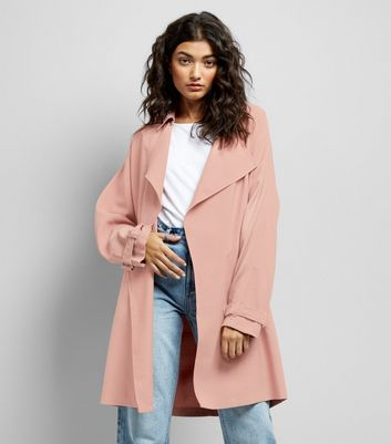 Pink Duster Coat New Look