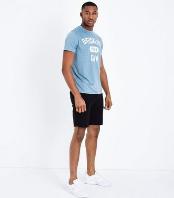Blue Brooklyn Gym Sports T-Shirt New Look