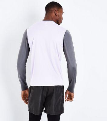 Charcoal Grey Colour Block Sports Top New Look
