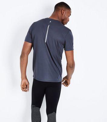 Navy Brooklyn Running Club Sports T-Shirt New Look