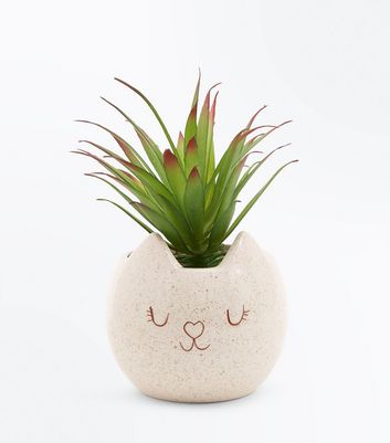 Ceramic Cat Plant Pot New Look
