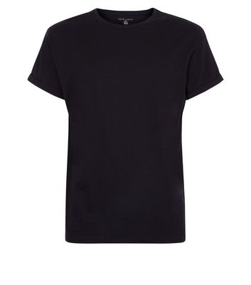 Black Cotton Short Sleeve T-Shirt New Look