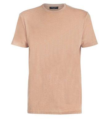 Camel Crew Neck T-Shirt New Look