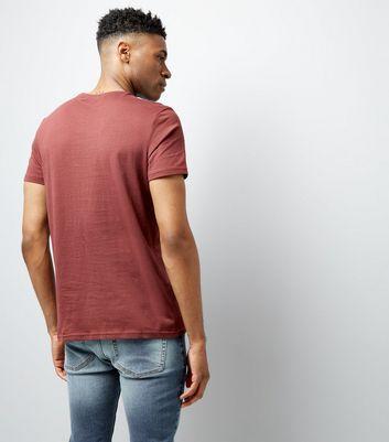 Dark Red Crew Neck T-Shirt New Look