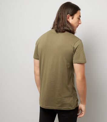 Khaki Crew Neck T-Shirt New Look