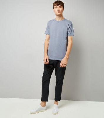 Pale Blue Crew Neck T-Shirt New Look
