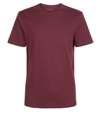 Burgundy Crew Neck T-Shirt New Look
