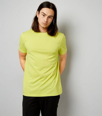 Yellow Crew Neck T-Shirt New Look