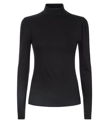 Black Roll Neck Top New Look
