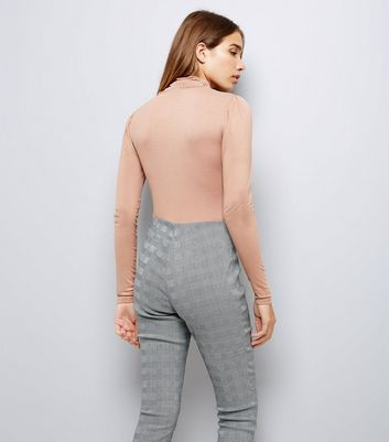 Tan Roll Neck Top New Look