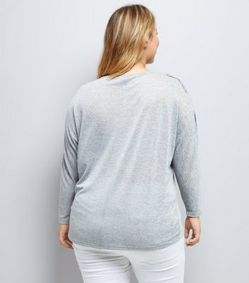 curves-grey-eyelet-batwing-jumper
