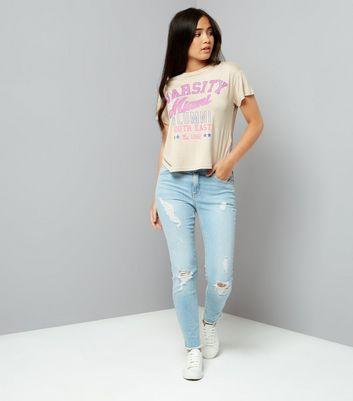 Teens Stone Printed Miami Slogan T-Shirt New Look