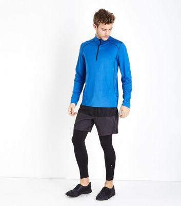 Bright Blue Mesh Long Sleeve Top New Look