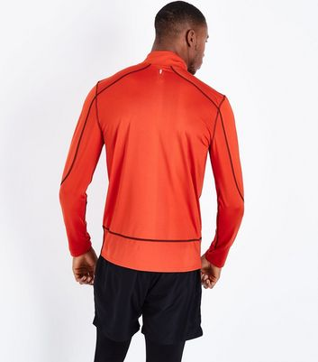 Red Mesh Long Sleeve Sports Top New Look